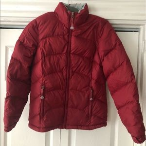 LLBean red puffer jacket size XS